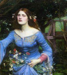 pre raphaelites   Pre Raphaelite Art: John William Waterhouse - Ophelia detail