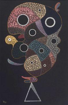 "Micol Otti Weiss on Twitter: ""Wassily Kandinsky, 1940. (Gouache on black paper) https://t.co/O6C3JQkw4h"""