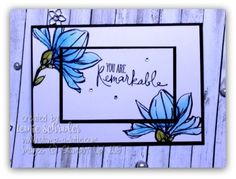 Remarkable Layers .. Double layer card with water coloured flowers from Remarkable You #stampinup #stampalatte #remarkableyou #doublelayer #watercolor