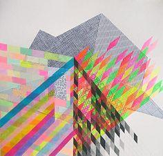 geometric art illustration neon Nikki Painter collage