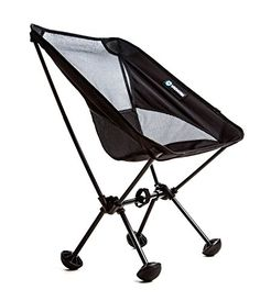 WildHorn Outfitters Terralite Portable Camp  Beach Chair Supports 350 lbs with TerraGrip Feet  Black *** See this great product.