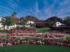 La Quinta, CA.  If I could find a job and live on the resort property itself I'd be the happiest camper ever.  It's one of my favorite places on Earth.