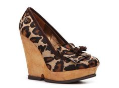 I really want these but I'm not paying $90...I'll wait until they go on sale.  Sam Edelman Wesley Leopard Wedge Pump High Heel Pumps Pumps & Heels Women's Shoes - DSW