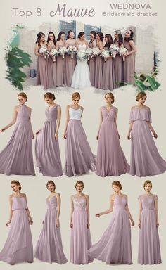 Amazing mauve chiffon bridesmaid dresseswith lace long halter dress a line  skirt sepaghetti straps dress afforable 3c0db15e7799