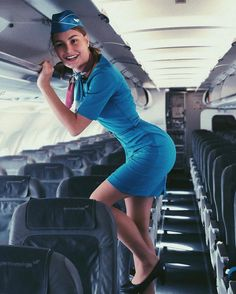 Brinda is Female Flight Attendant in light blue dress Flight Attendant Hot, Delta Flight, Airline Uniforms, Female Pilot, Girls Uniforms, Cabin Crew, Sexy Stockings, Models, Sexy Legs