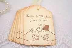 Wedding Name Tags Wish Tree Favor Tags Married by seasonaldelights,