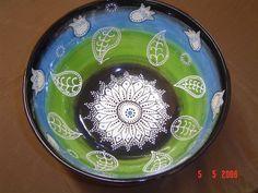 Ceramic painted bowl