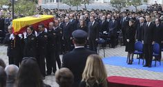 King Felipe and Queen Letizia of Spain attend a funeral ceremony