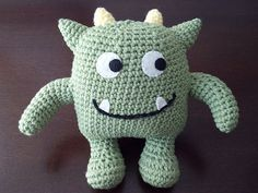 This completely huggable little guy was inspired by a monster character sewn onto a baby onesie. It's my first original pattern, and one that I hope you enjoy!