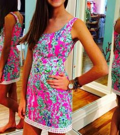 Lilly Pulitzer Eaton Shift Dress in Southern Charm via @Pink Bee Lilly Pulitzer Signature Store