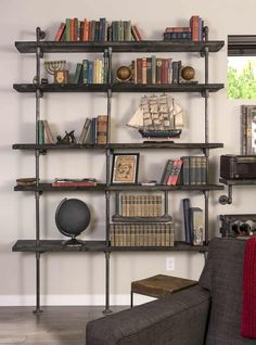 Make pipe shelves