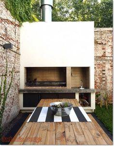 Barbecue Design 2020 – Can you use normal bricks for a BBQ - Home Ideas Design Barbecue, Barbecue Area, Outdoor Bbq Kitchen, Outdoor Kitchen Design, Backyard Bar, Backyard Patio Designs, Design Jardin, Summer Kitchen, House Design
