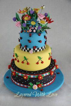 Mary Engelbreit - by KimJ @ CakesDecor.com - cake decorating website