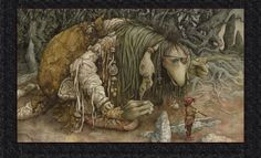 """Trolls"" Exhibit Art / Brian Froud: Go West (Sold) The Dark Crystal, Mythical Creatures, Art, Mystical Creatures, Fantasy, Brian Froud, Illustration, Artist, Cool Art"
