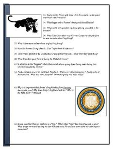 Forrest Gump Movie worksheet