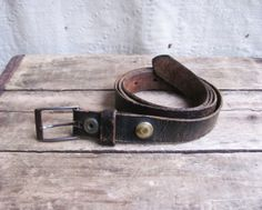 vintage c. 1920s30s super distressed leather belt (found on a WWI uniform) by MouseTrapVintage, $28.00