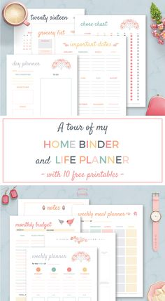 Home Binder & Life Planner, an all-in-one organizational system for Home Management. Home Planner, Weekly Meal Planner, Happy Planner, College Planner, Financial Planner, College Tips, Planner Pages, Printable Planner, Free Printables
