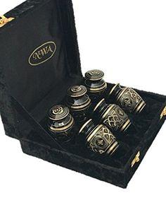 Cremation Urn, Keepsake Urns, Brass Funeral Tokens, Set o...