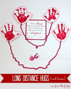 A Long Distance Hug on Valentines Day  Preschooler crafts Long