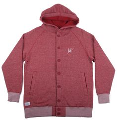 HUF Sutter Button Up Hoody Burgundy Heather from HUF Clothing, on 5pointz