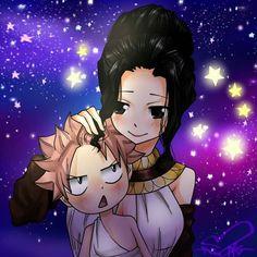 Natsu with his mom