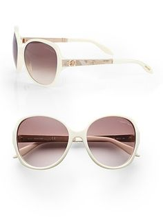 32d20ee6a64b Roberto Cavalli Bucaneve Python Printed Leather Accented Sunglasses Ivory