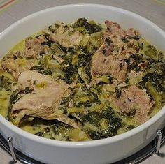 αρνάκι φρικασέ International Recipes, Pork, Beef, Kale Stir Fry, Meat, Pork Chops, Steak