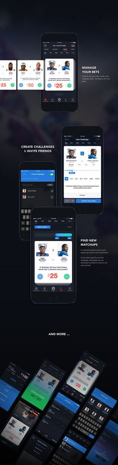 No halftime - fantasy sports matchups on app design served fantasy football app, web ui Web Design, Graphic Design, Sports Website, Sports App, Mobile Ui Design, Mobile App Ui, Ui Design Inspiration, Sports Betting, User Interface Design