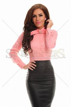 PrettyGirl Girlhood Peach Body Bow Accessories, Product Label, Office Fashion, Dusty Pink, Clothing Items, Peach, Bodycon Dress, Bows, Fall