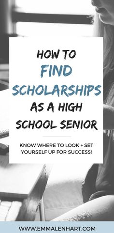 Looking for scholarships for college? Find tips for high school seniors on how to find scholarships online. Read the full post on http://EmmaLenhart.com!