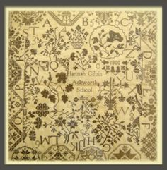 Hannah Gilpin - you cannot tell from this picture but this sampler has the most beautiful color palette!!!