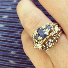 "669 Likes, 3 Comments - Ruth Tomlinson (@ruthtomlinsonjewellery) on Instagram: ""We blues! Our sapphire stack off to Holland. Trying them on again my lovely #mattany dress."""