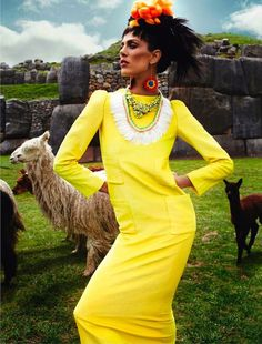 The Terrier and Lobster: Inca: Isabeli Fontana in Peru by Mario Testino for Vogue Paris April 2013