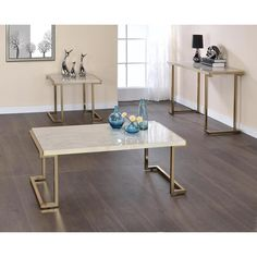 Acme Furniture Boice II Faux Marble Occasional Tables