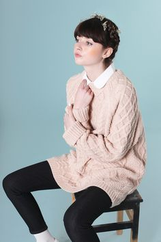Oversize Knit Jumper Candy Pink http://www.thewhitepepper.com/collections/knitwear/products/oversized-knit-jumper-candy-pink