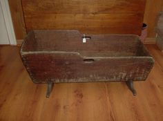 Antique Primitive Dovetailed Baby Cradle
