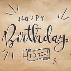 16th Birthday Wishes, Happy Birthday For Her, Happy Birthday Wishes Cards, Simple Birthday Cards, Happy Birthday Gifts, Brush Lettering Happy Birthday, Handlettering Happy Birthday, Birthday Letters, Art Birthday