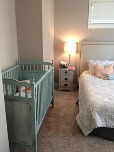 Wow----this is exactly like my kids' old crib (now used for grandkids)---I'm gonna paint it!