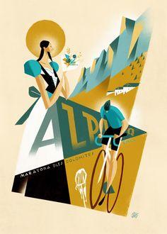 Maratona dles Dolomites on Behance