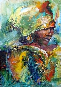Xhosa woman- interesting water colour