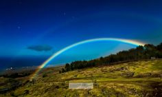 Never knew this was a possibility.  Lovely Venus transit gift. Photographer captures moonbow over Waimea, Hawaii