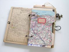You've thought it was only in the movies - Vintage Inspired Travel Journal - people so prepared when they travel, like my little daughter, gathering maps, itineraries, and information. I've envied it. ..or those who take tons of photos; see amazing photography here.