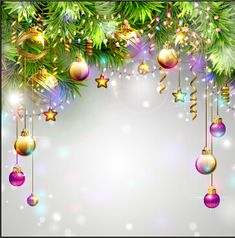 Ornate christmas ball and baubles vector background 02