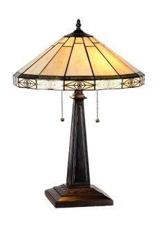 Purchase CHLOE Lighting BELLE Tiffany-style 2 Light Mission Table Lamp Shade from Benzara Inc on Dot & Bo. Tiffany Style Table Lamps, Tiffany Lamps, White Table Lamp, Light Table, Mission Table, Stained Glass Table Lamps, Lampe Art Deco, Chloe, Lighting Concepts