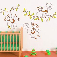 Animazing 3 Monkeys Vinyl Decal