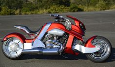 "Steve Leach's bike ""Beond"" or The Transformer is based on a Harley V-Rod engine. Read the full story: Artist drawings for Steve Leach's bike ""Beond"" or The Transformer is based on a Harley V-Rod engine. Read the full story: http://motorbikewriter.com/radical-harley-v-rod-movie-star/ Photos by David Cohen (www.ultragraphics.com)"