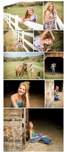 Senior Photography  #seniorgirl  blushbytina.com  I like the places these were taken at! So pretty!