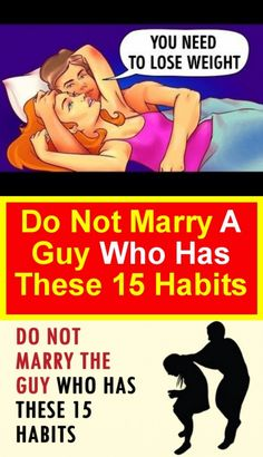 Don't marry a guy who has 15 of these habits Judging People, Bad Dreams, A Guy Who, Need To Lose Weight, Bone Health, Reality Check, Relationship Rules, Marry You, For Your Health