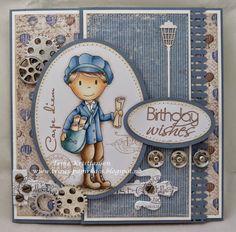 Trines-papirkaos Masculine Cards, Carpe Diem, Nest, Stamps, Card Making, Dolls, Paper, Cards, Kid