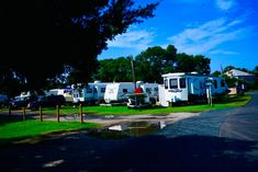 Campground After a Morning Shower. Recreational Vehicles, Shower, Rain Shower Heads, Camper Van, Showers, Campers, Single Wide